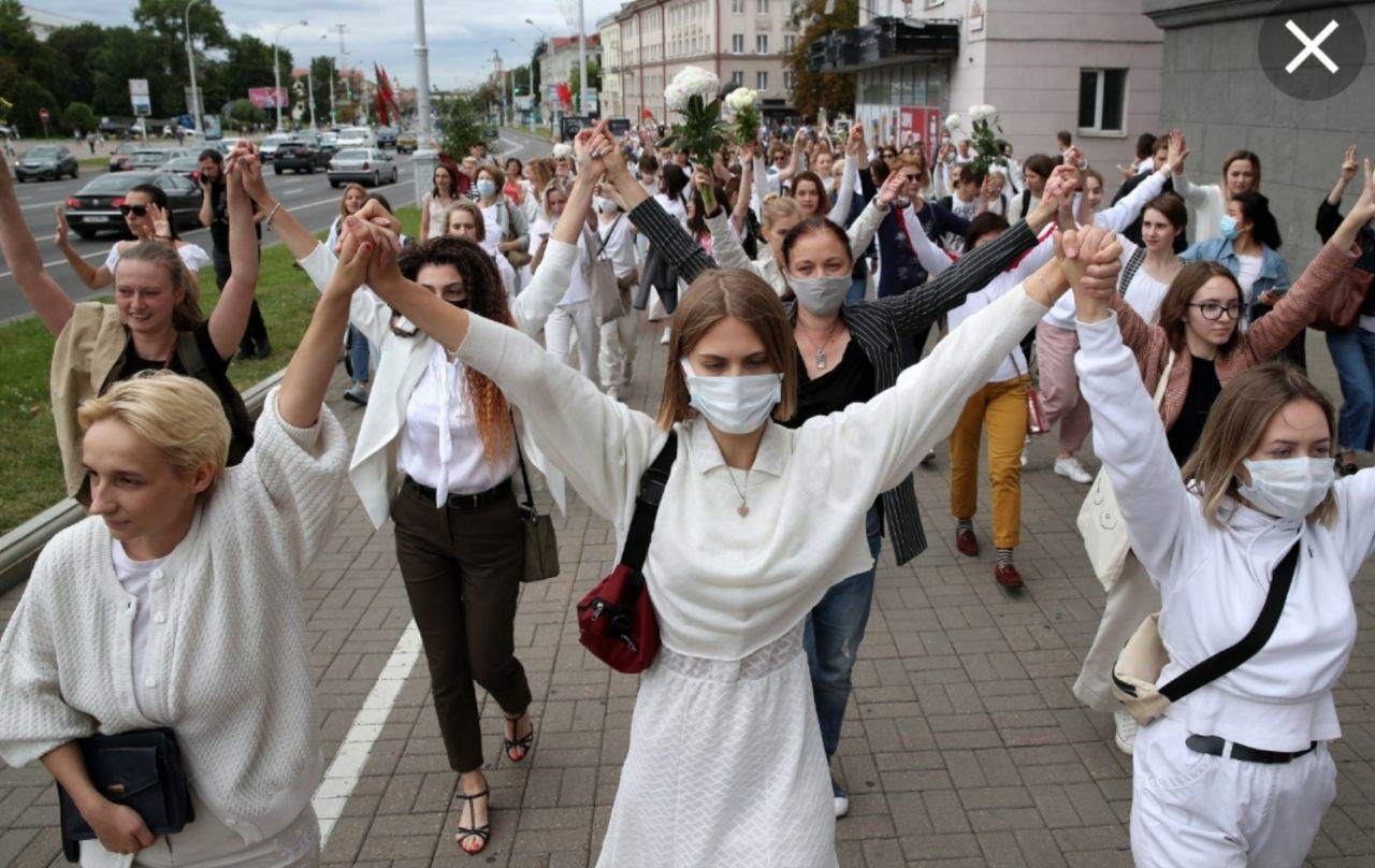 """Революция """"женщин в белом"""" Беларусь - беларусочка"""